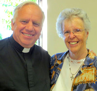 Father Ralph Sommer, pastor of St. Bernard's Roman Catholic Church, with Sister Margaret Sammon, OP (Amityville)