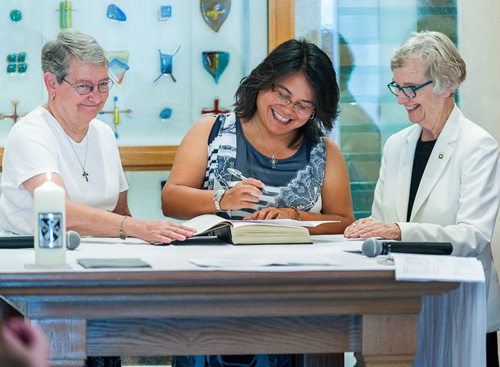 From left: Sisters Sue Pixley, Christina Atienza, Maureen McInerney