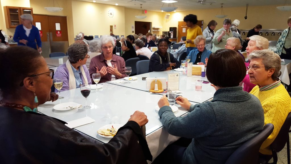 Sisters gathered for conversation at Mariandale.
