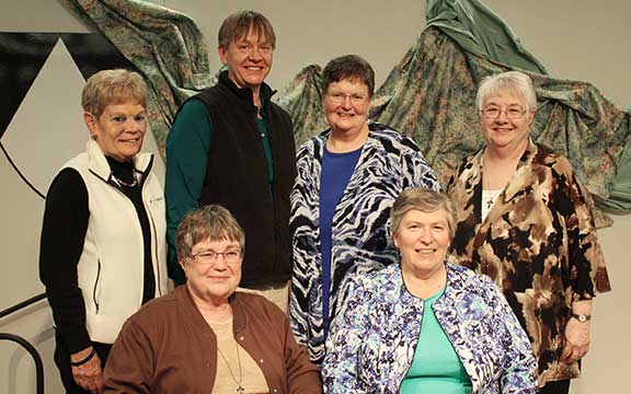 With joy and gratitude, the Sinsinawa Dominicans announce our newly elected prioress and council as we set out anew together! From left: Sisters Colleen Settles, Toni Harris (prioress), Elizabeth Pawlicki, Patricia Beckman, Pamela Mitchell (vicaress) and Angelo Collins.
