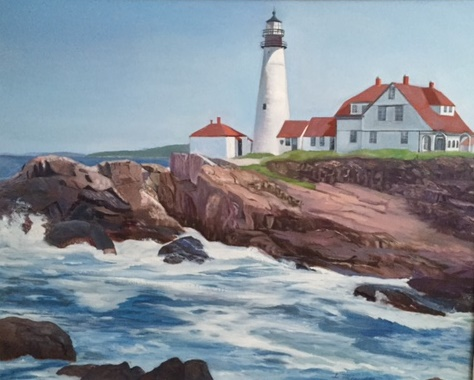 Lighthouse painting cropped