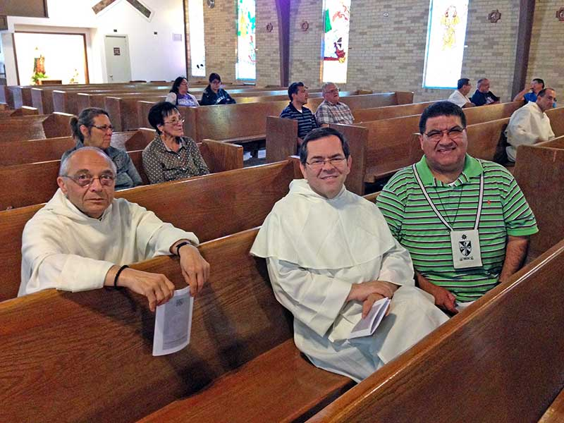 Master of the Order of Preachers - fr. Bruno Cadore, OP; Socius for the Apostolic Life - fr. Orlando Rueda Acevedo, OP; & Lay Dominican - Mr. Gerard Elizondo, OP - Vespers at Saint Stephen's Parish in San Antonio, Texas - October 24th, 2016