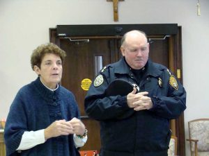 Blauvelt Dominican Sister Catherine Howard and OPD Chief Nulty